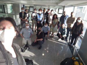 هیئت صلح در فرودگاه اربیل